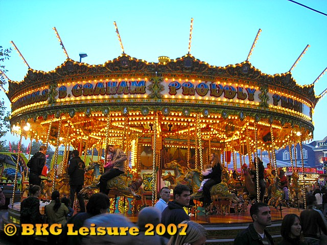 Our Carousel open at Salisbury's ancient Charter Fair held annually in October where we were awarded a floating position in 2003, 2007 and 2009.
